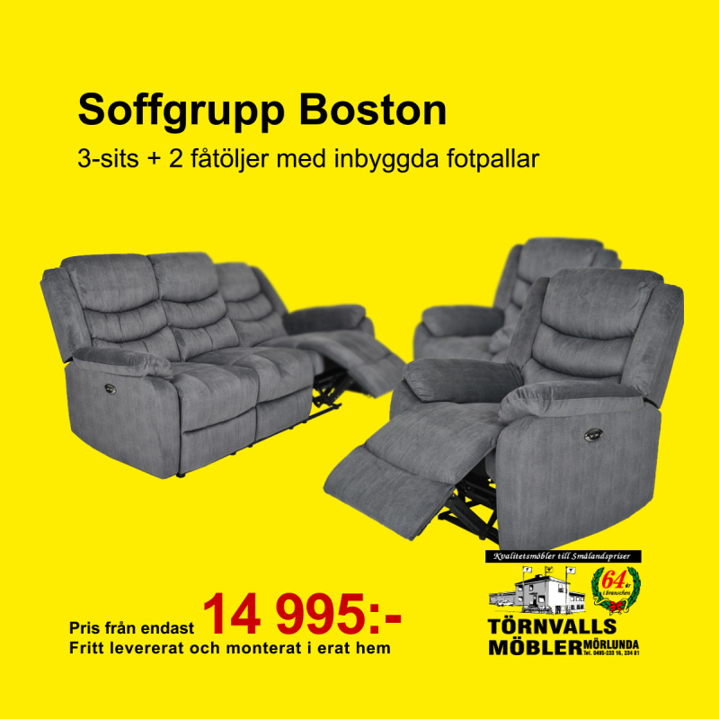 Soffgrupp Boston kampanj Törnvalls Möbler